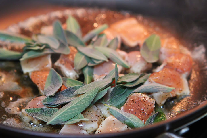 5 Minute Brown Butter Chicken and Crispy Sage