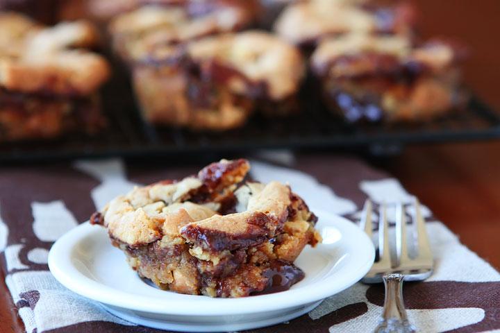 Ganache Stuffed Banana Pudding Cookie Muffins