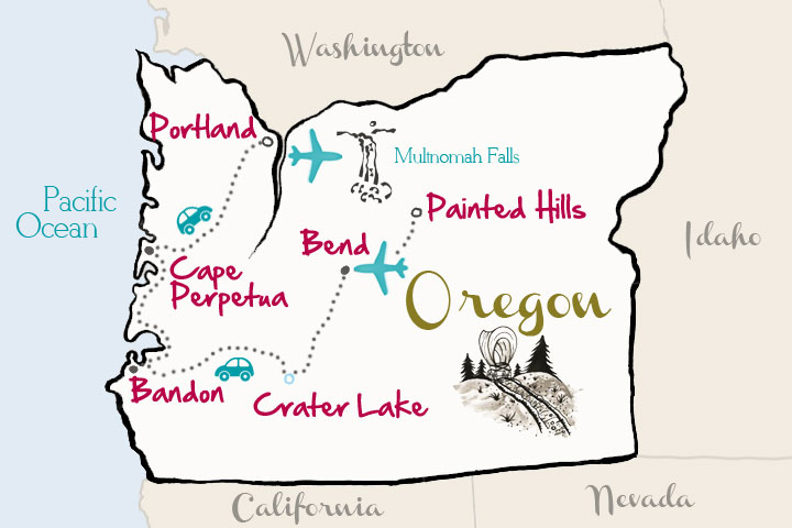 Travel Oregon Map from kevinandamanda.com #travel