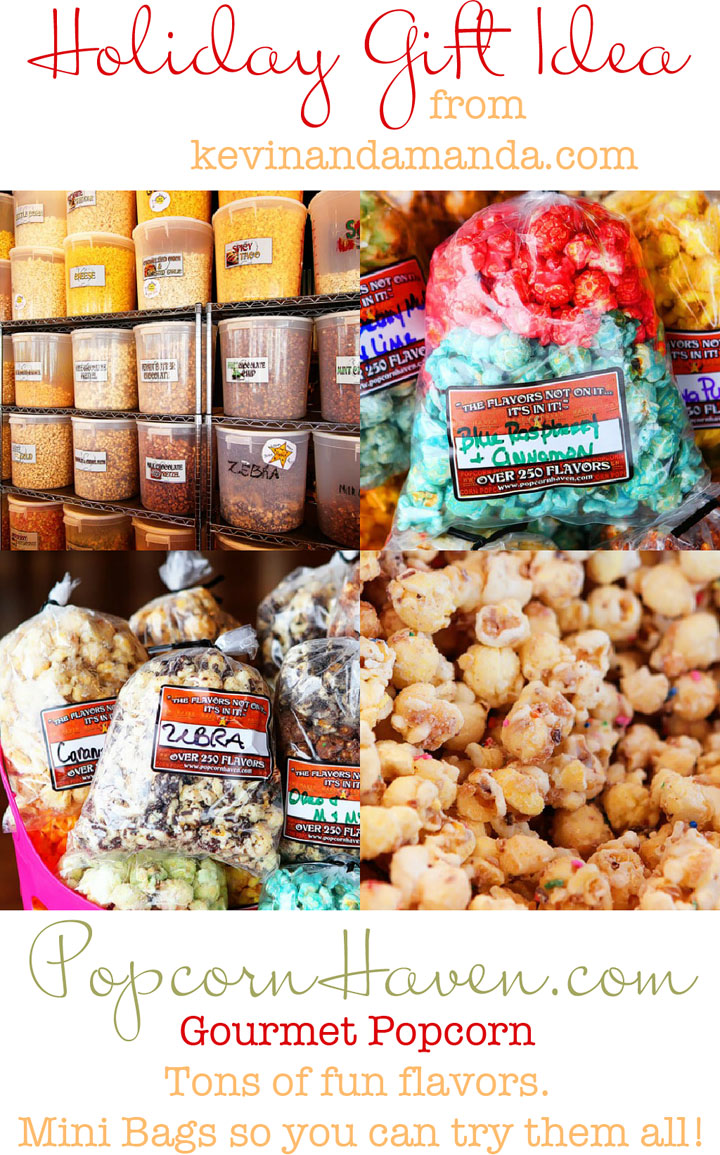 Holiday Gift Idea! Gourmet Popcorn Tins from PopcornHaven.com. Choose Your Own Flavors & Create Your Own Tins! Over 250+ Gourmet Flavors