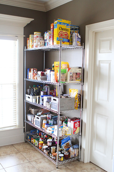 Vintage Milk Crates and Wire Baskets for the Pantry