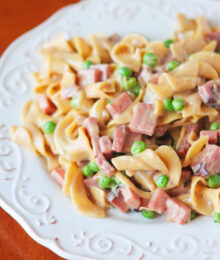 Image of Peas, Ham, & Creamy Noodles