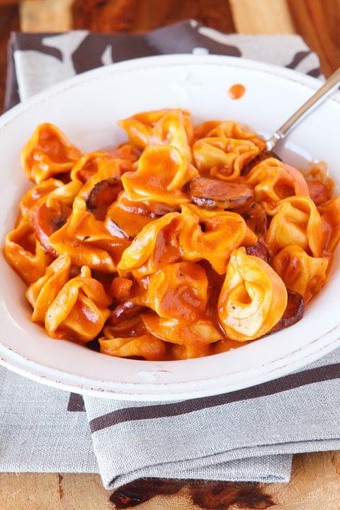 Cheese and Sausage Tortellini Pasta Recipe