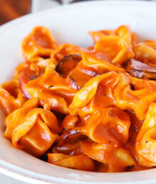 Image of Sausage and Cheese Tortellini Pasta