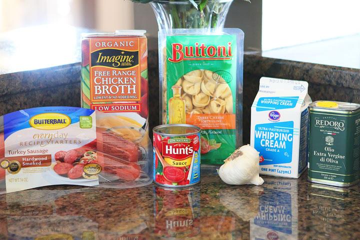 Cheesy Sausage Tortellini Recipe. SO GOOD! One dish, and <a href=