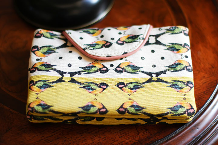 Anthropologie Perched Birds Pouch Wallet