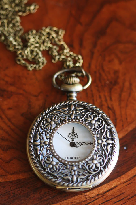 Pocket Watch Necklace from Etsy