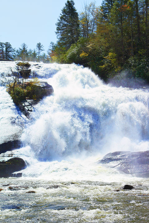 High Falls in Dupont State Forest, near Asheville, NC. One of the filming locations for the Hunger Games!