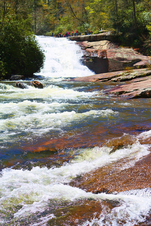 Triple Falls in Dupont State Forest, Asheville, North Carolina
