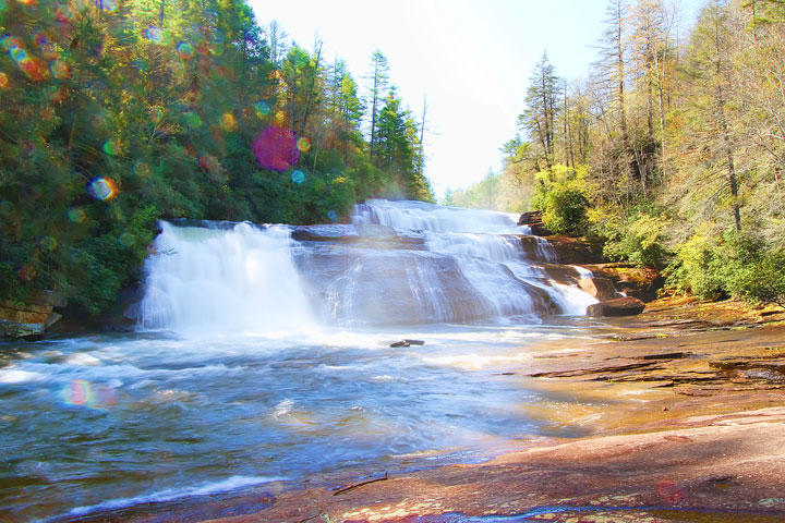 Triple Falls in Dupont State Forest, near Asheville, NC. One of the filming locations for the Hunger Games!