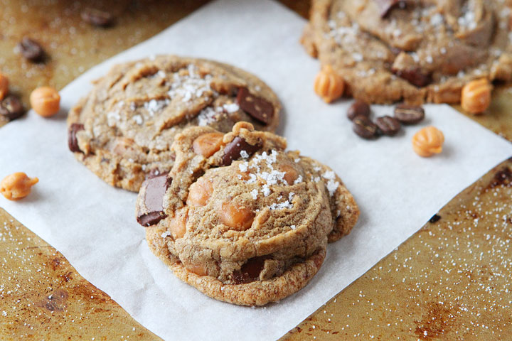Salted Caramel Mocha Brown Butter Chocolate Chip Cookies Recipe