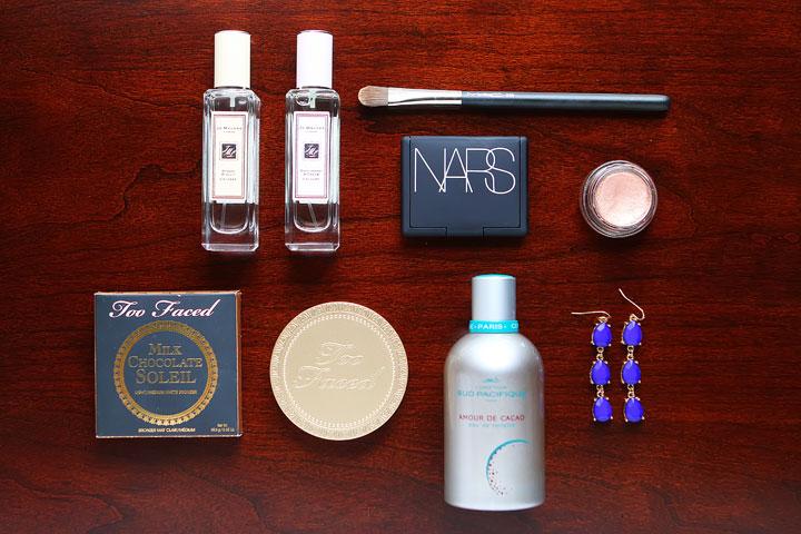 Summer fun makeup and perfume.