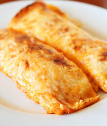 Image of Cheesy Chicken Enchilada Style Burritos