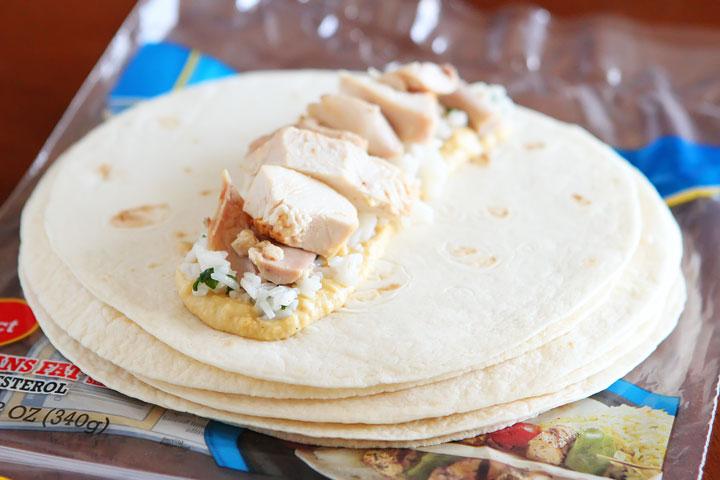 Cheesy Chicken Enchilada Style Burritos
