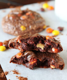 Image of Soft Peanut Butter Double Fudge Brownie Cookies