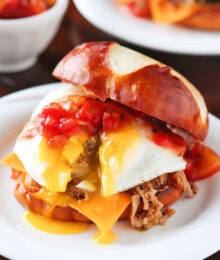 Image of a Caribbean Pulled Pork Sandwich