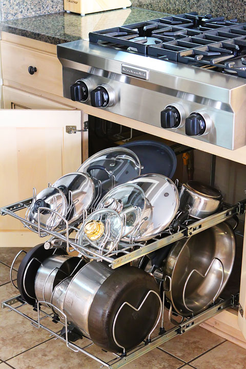 Kitchen Storage Cabinets The Best Pot Rack And Cabinet Organizers