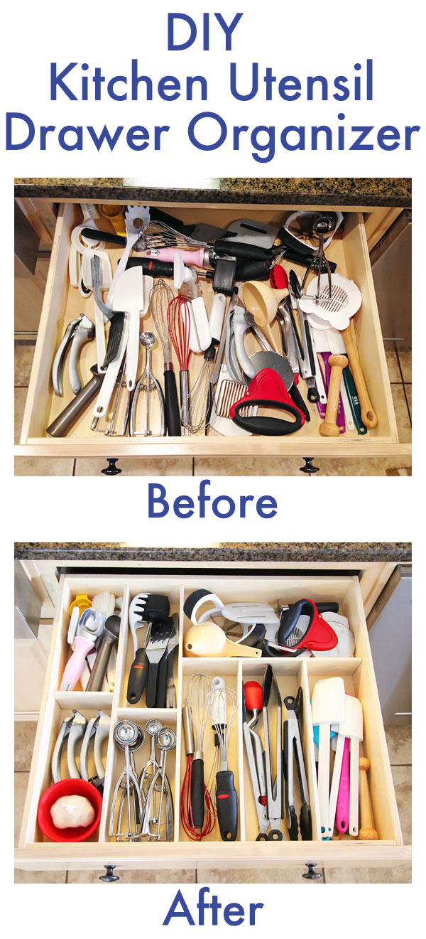 DIY Kitchen Utensil Drawer Organizer 8 month update