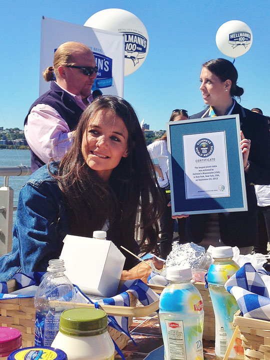 Hellmann's 100th Birthday Party in NYC with Katie Holmes, Andy Cohen, Mario Batali, and Aaron Sanchez