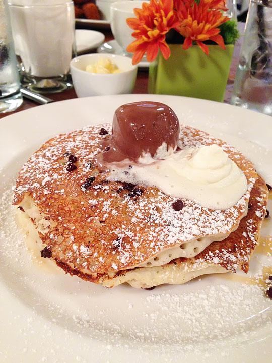 Chocolate Chip Gelato Pancakes at Lavo NYC