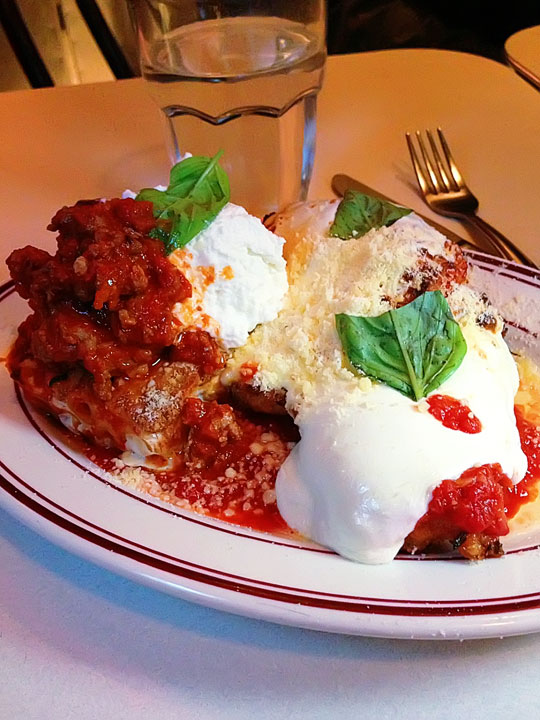Chicken Parm at Parm in NYC. Put this on your MUST EAT HERE list for NYC!! :)