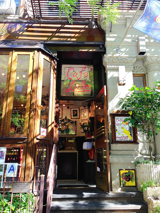 Cafe Lalo, NYC. The cafe where Tom Hanks sees Meg Ryan in You've Got Mail