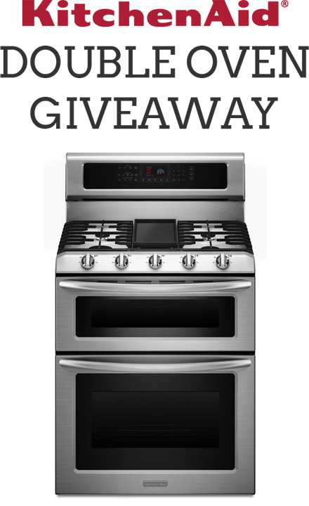 KitchenAid Stainless Steel Double Oven Freestanding Range Giveaway