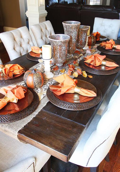 dining room table settings ideas | Fall Dining Room Table — Kevin & Amanda