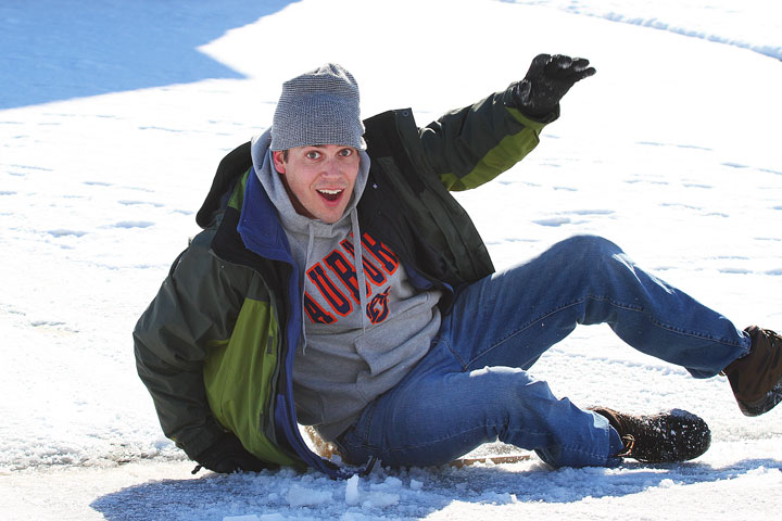 Image of Kevin Having Fun on His Sled