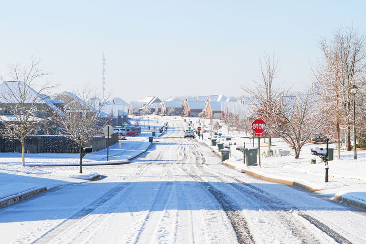 Image of the Street on a Snow Day
