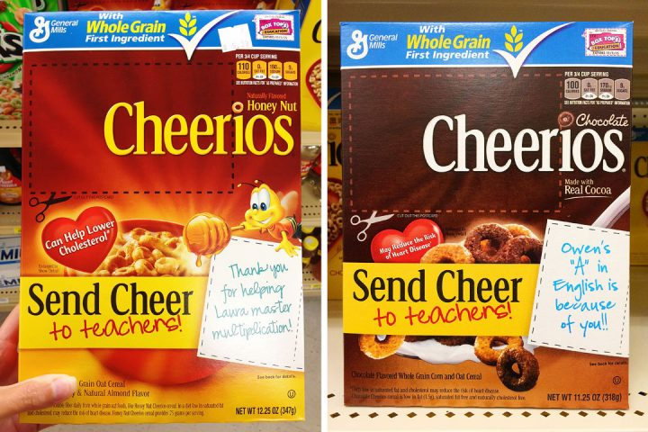 Cheerios Box Handwriting Font