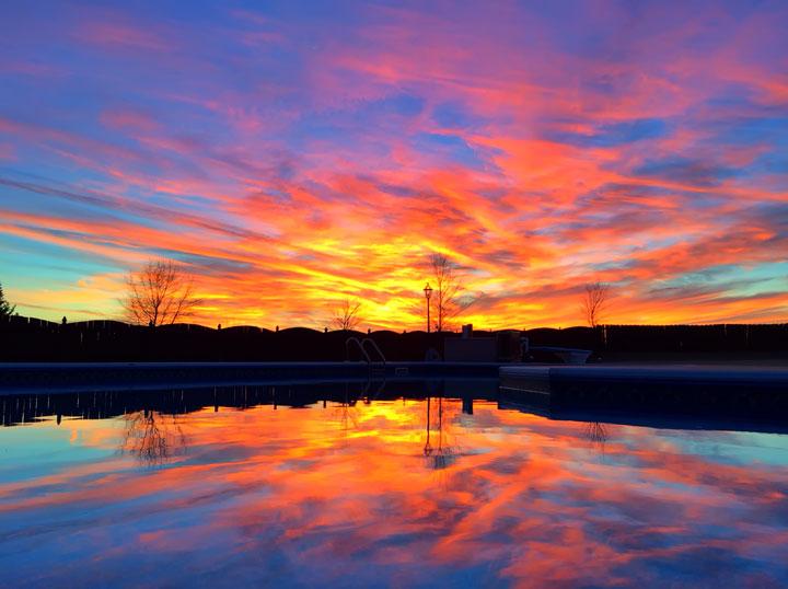 Backyard Pool Sunset