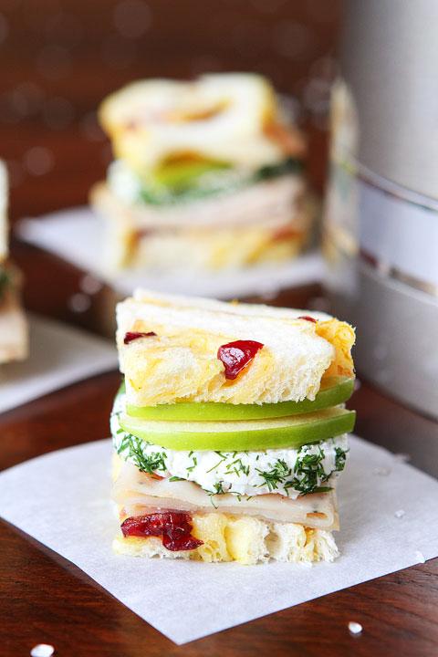 Cranberry Orange Bread Tea Sandwiches