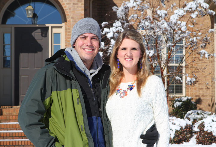 Kevin and Amanda Valentine's Day Snow Day