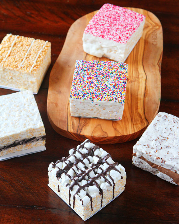 These are seriously the SOFTEST Rice Krispy Treats I have ever had!! They're like a cake!! Seriously so good and you can order them online!! Perfect for gifts!