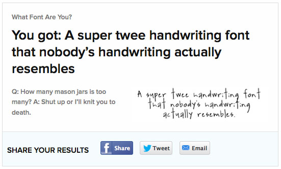 Buzzfeed What Font Are You Handwriting Font