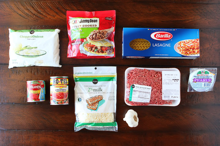 Ingredients for Easy Lasagna Recipe - How To Make Homemade Lasagna In Less Than 30 Minutes