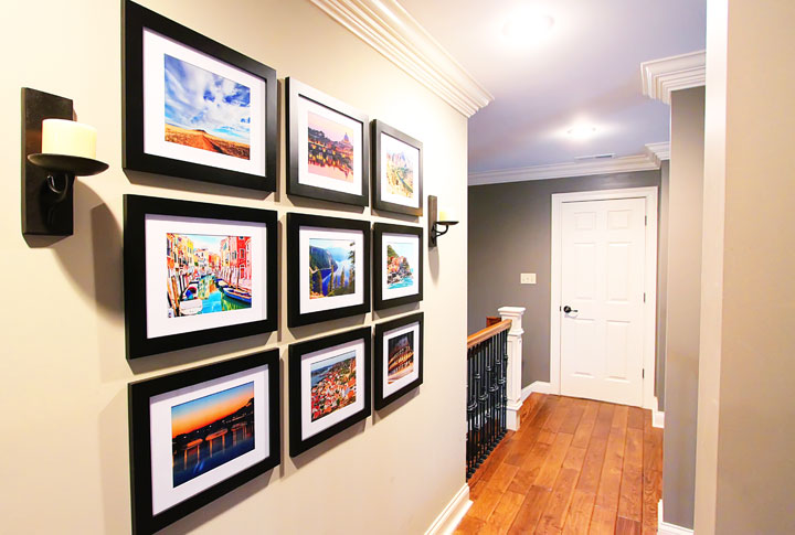 Hallway Travel Gallery Wall