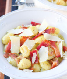 Image of Creamy Pesto Gnocchi with Bacon & Parmesan