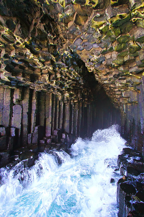 Fingal's Cave on the Isle of Staffa. Tips for Traveling to Scotland. What to Do, See, & Eat. www.kevinandamanda.com
