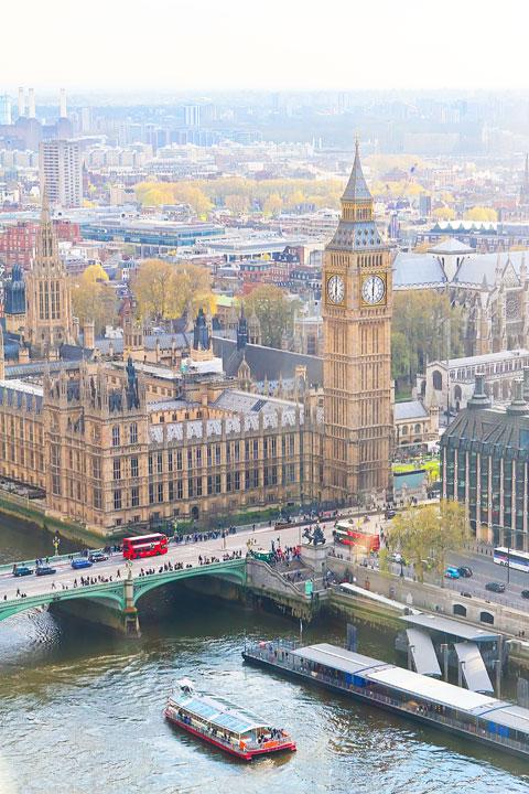 View of Big Ben from the London Eye, London. www.kevinandamanda.com #travel #london