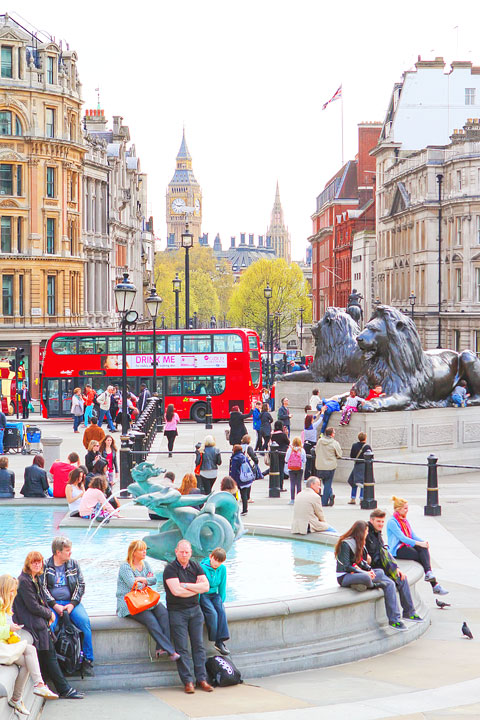 Trafalgar Square, London. Tips for Planning a London Vacation. www.kevinandamanda.com. #travel #london #england