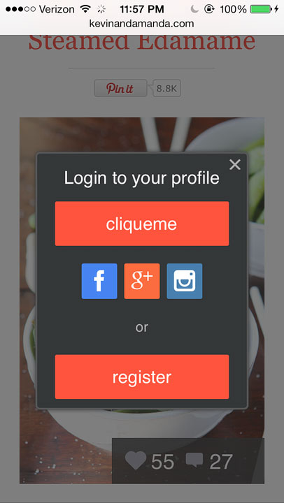 CliqueMe is an awesome new feature on blogs!! It's like Instagram for your blog!! You can even double-tap to like!!