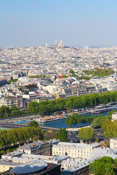 View from the Eiffel Tower, Paris, France. www.kevinandamanda.com #travel #paris #france #photography