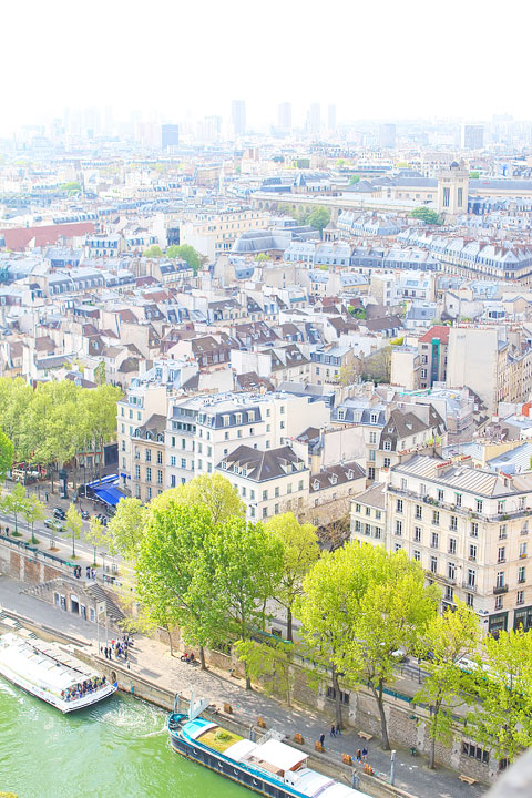 View from Notre Dame, Paris. Tips for planning a Paris Vacation. www.kevinandamanda.com #paris #travel #france