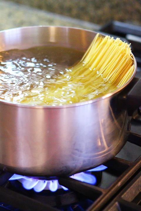 Linguine for Shrimp Scampi Pasta