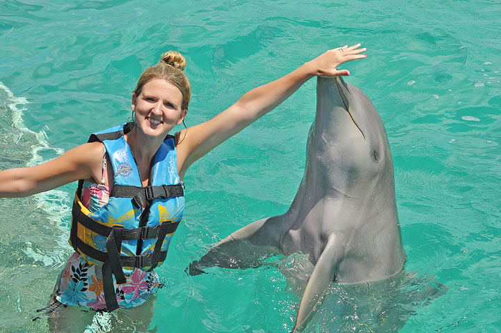 Swimming with the Dolphins in Cancun, Mexico. #travel #cancun #mexico