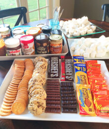 S'mores Party Snack Table