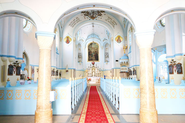 Inside of the Blue Church
