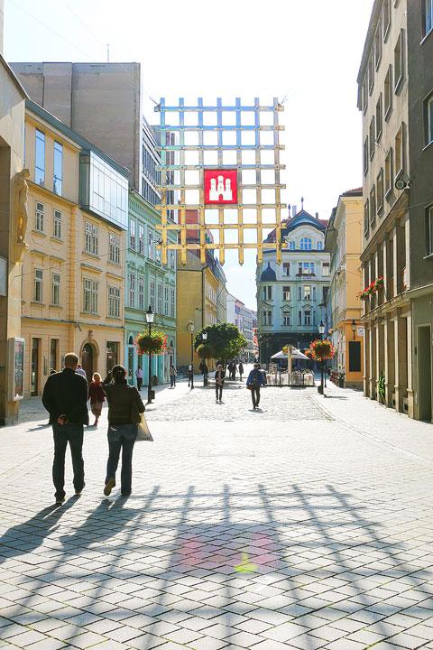 Historic cobblestone street